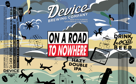 ON A ROAD TO NOWHERE 16oz label