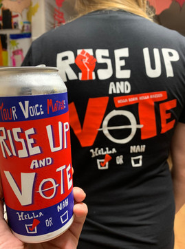 RISE UP AND VOTE T-SHIRT