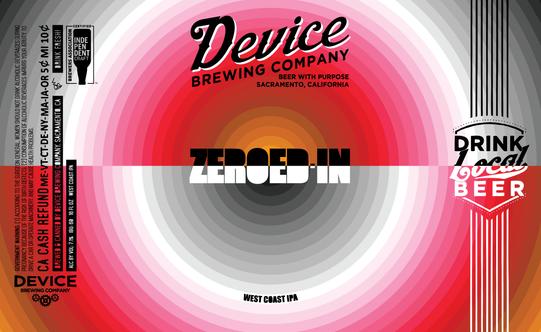 ZEROED-IN 16oz label