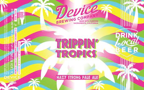 TRIPPIN' TROPICS 16oz label