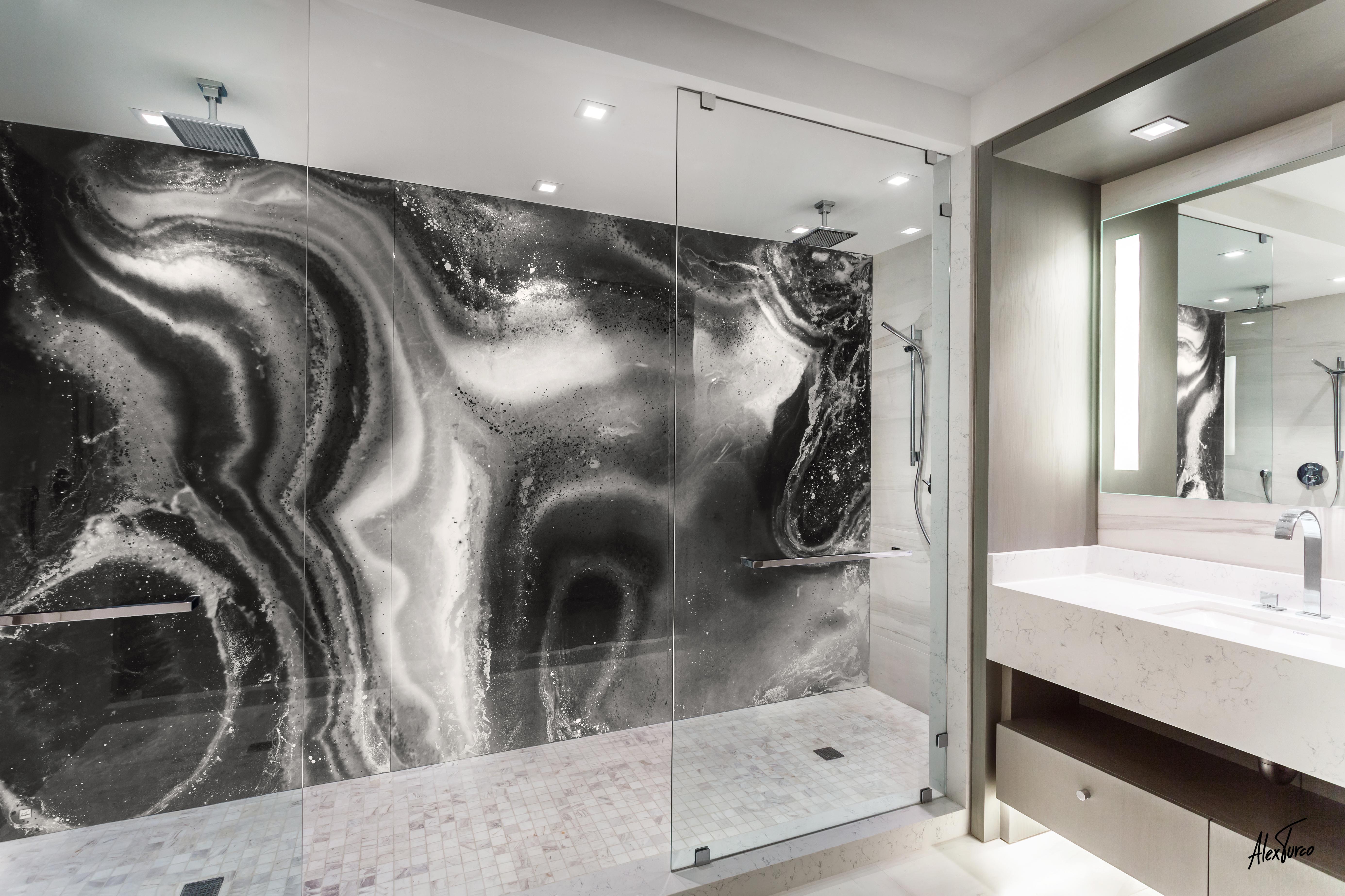 Bath shower (MALACHITE IN BLACK)