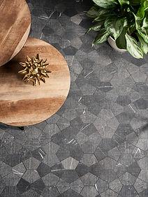 Poli Mosaic - Textured - Nero-Tulip Blac