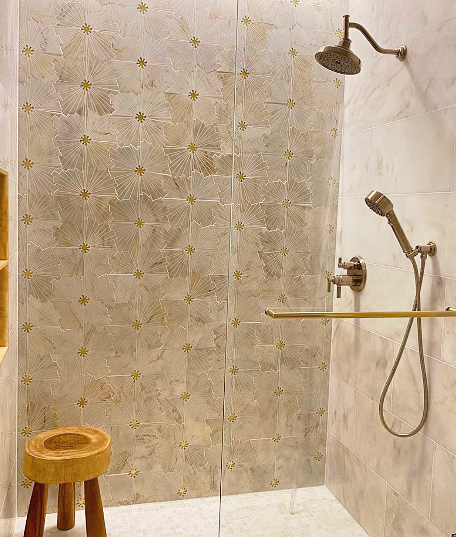 CoCo Mosaic - Chantilly White & Gold Gla