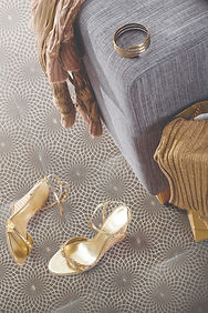 LATTICE - London Grey Marble Rustic Gold