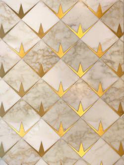 Byron mosaic - Cloud Nine & Brass