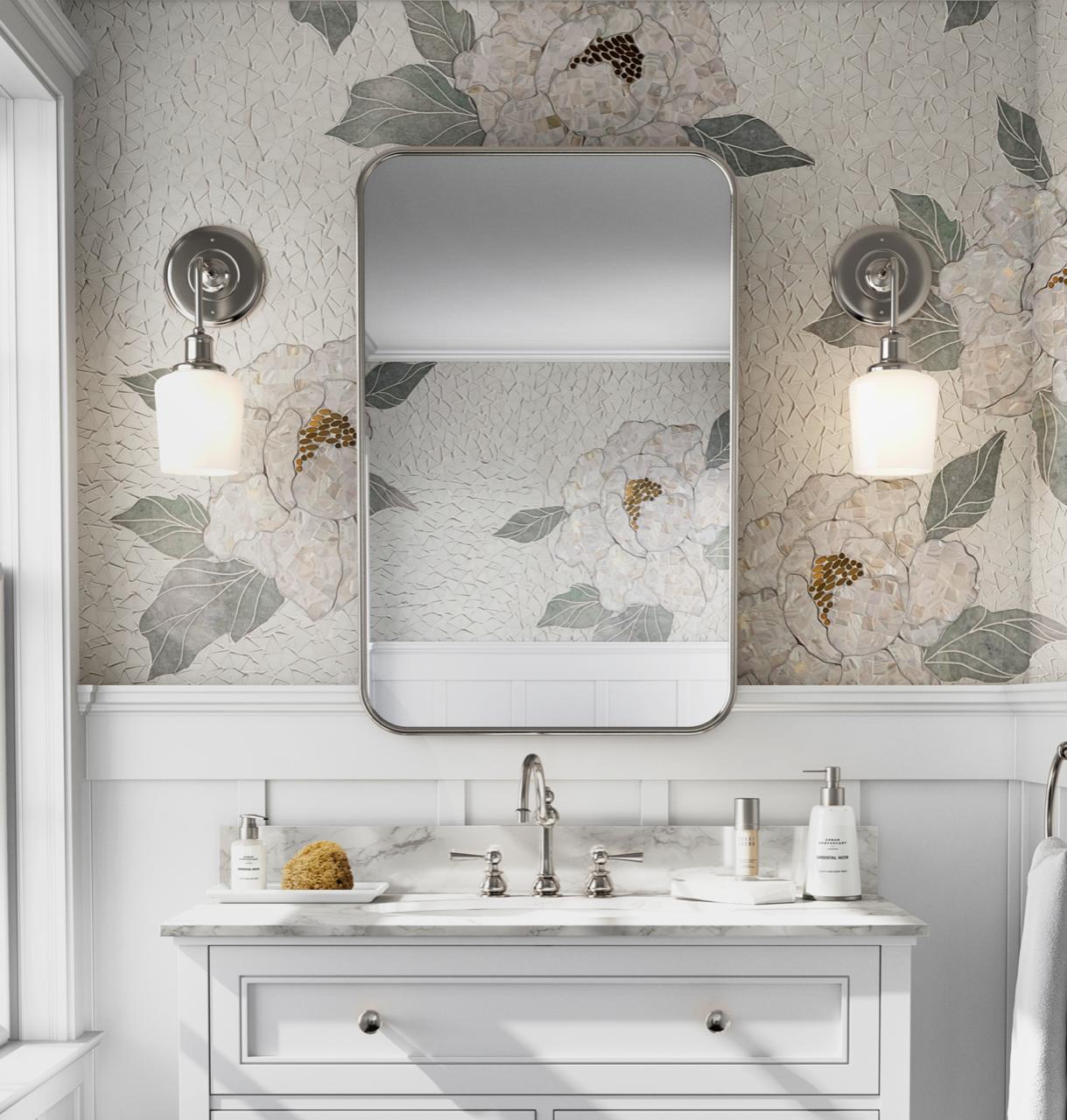 Flora Mosaic - Bathroom Insatll