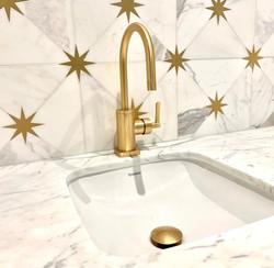 Orion Mosaic - Calacatt Honed & Brass