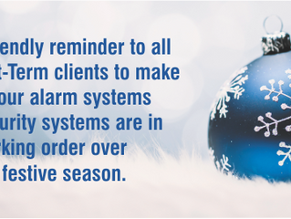 Security reminder for the holidays
