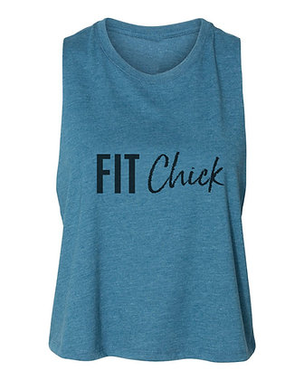 FIT Chick CROPPED MUSCLE TANK