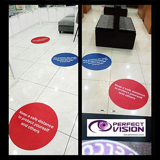 floor sticker reminder-social distancing