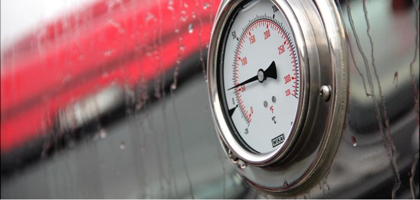 Температура пара в автоцистерне