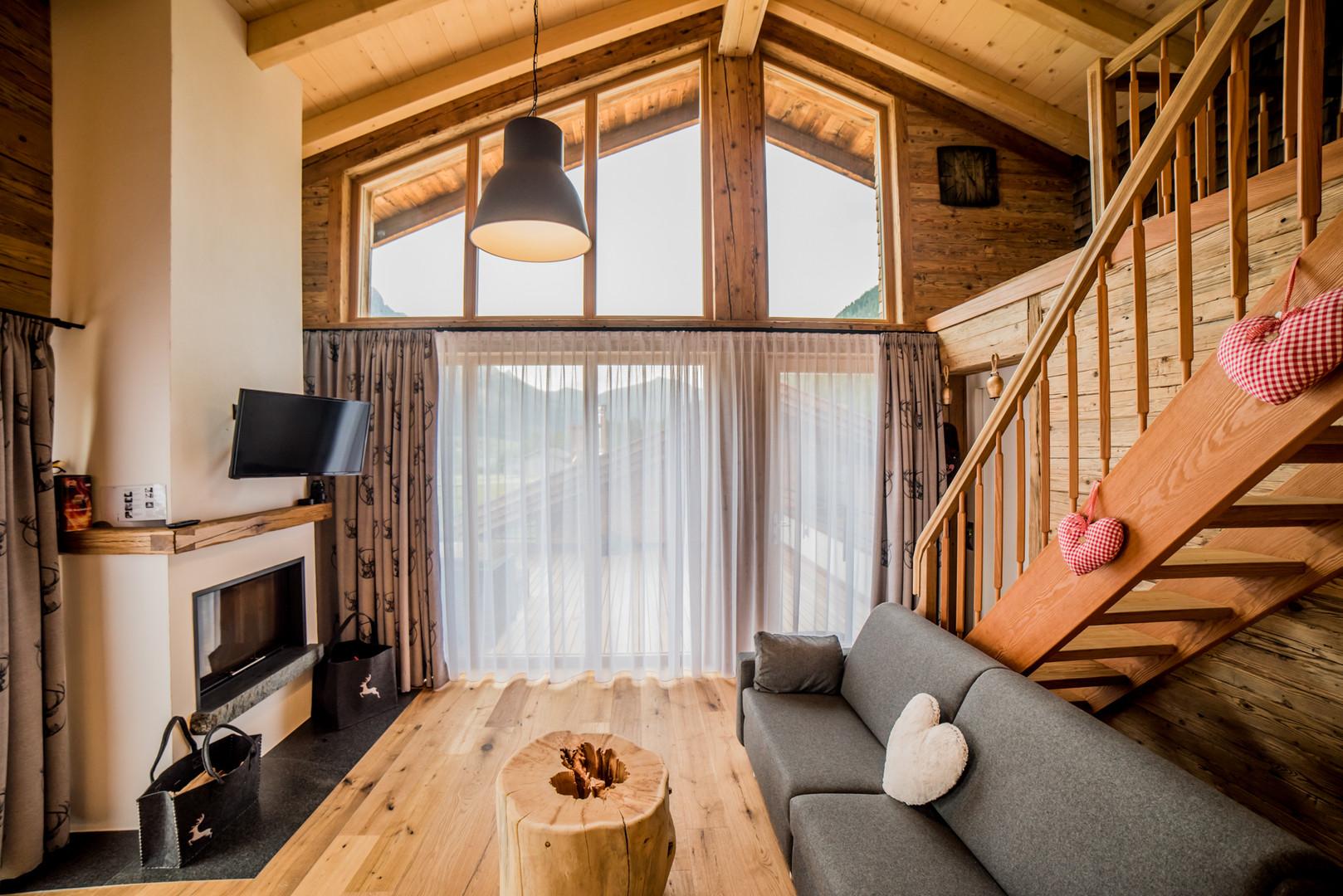 Wohnzimme in Felixe´s Lodge