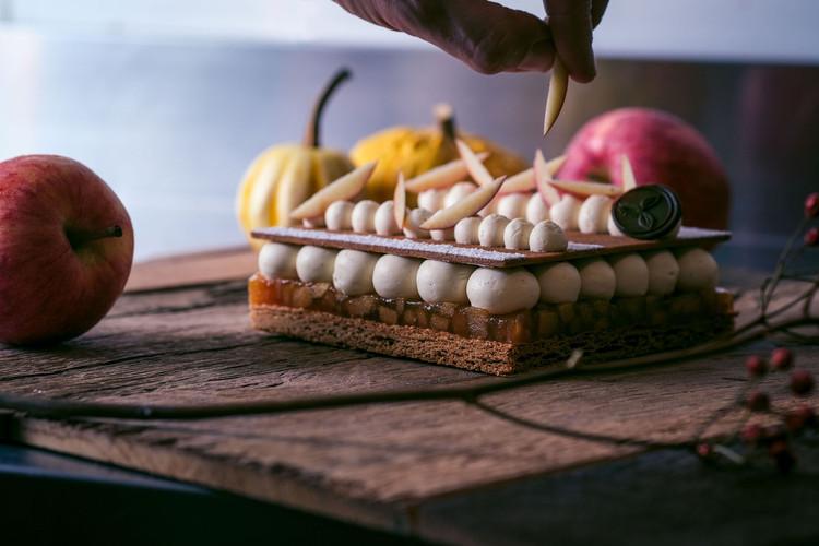 Gâteau pommes caramélisées & Calvados