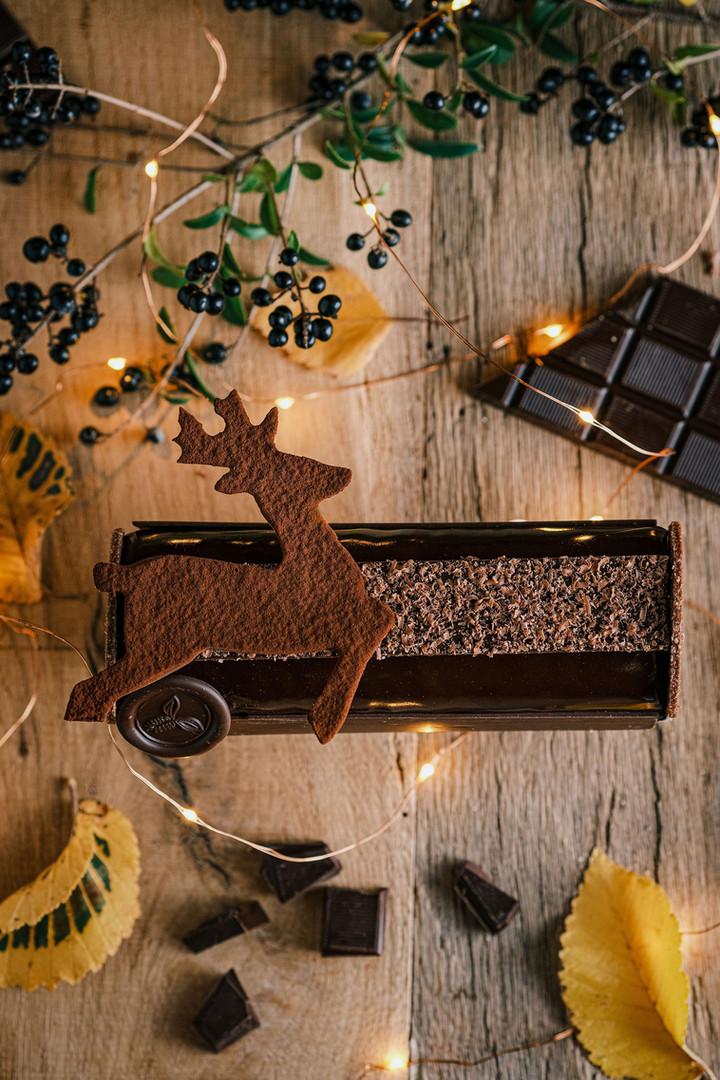 Bûche de Noël 2020 - Chocolat noir
