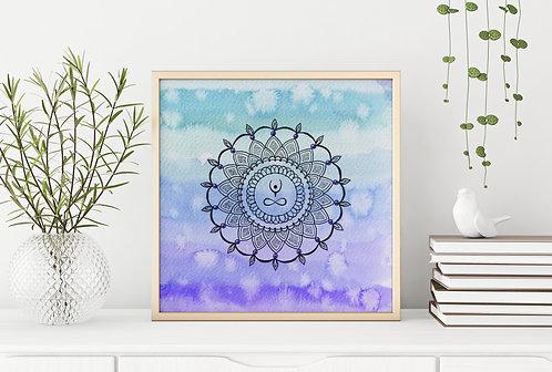 Elevate Mandala Blue Purple Print