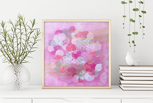 Japanese Pink Clouds Print