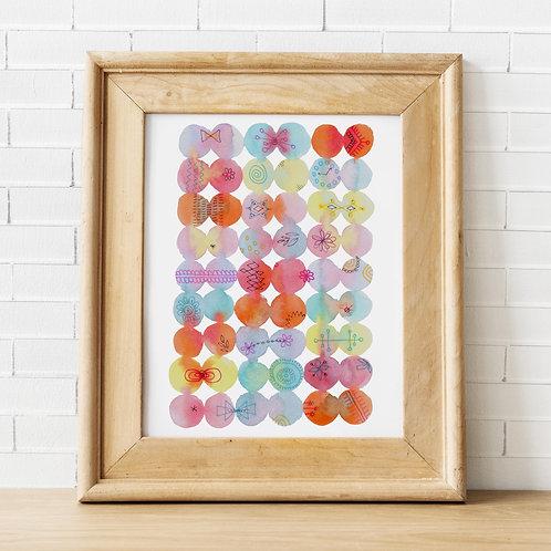 Morning Bubbles Orange Print