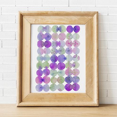 Morning Bubbles Violet Print