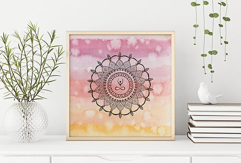 Elevate Mandala Pink Yellow Print