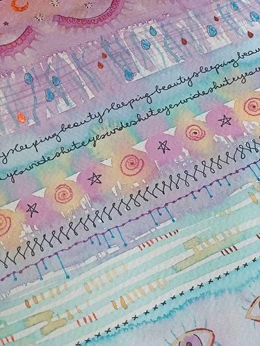 """Sleeping Beauty"" - Peinture Intuitive"