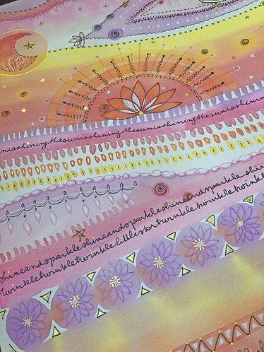 """Ray of Light"" - Peinture Intuitive"