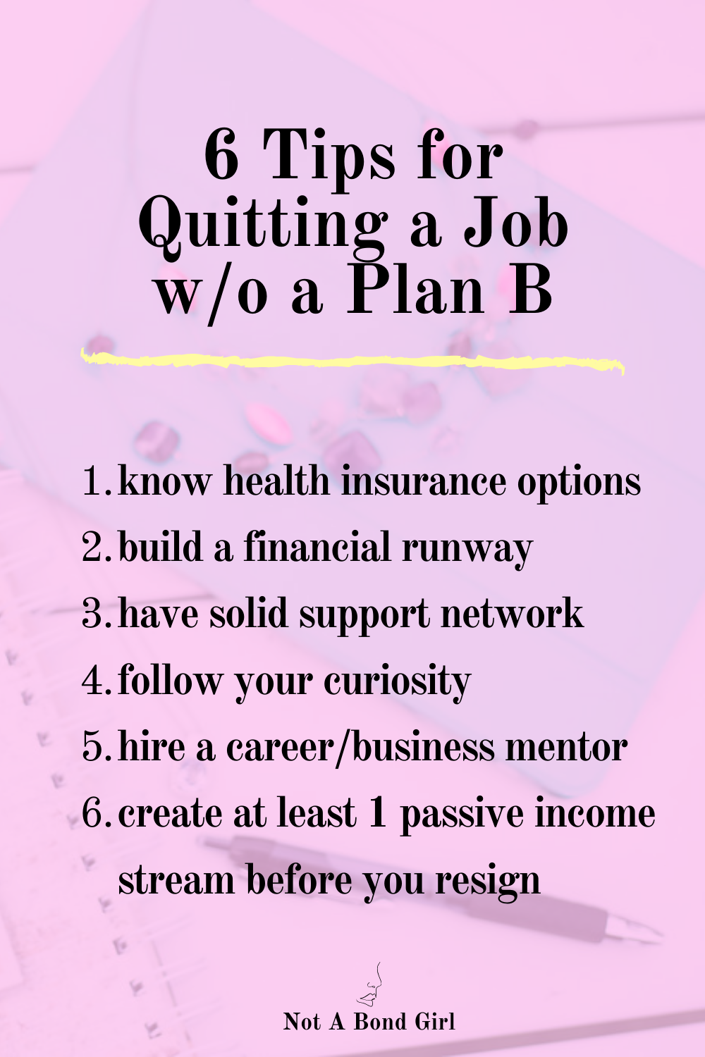 6 Tips for Quitting Your 9-5 Job without a Plan B