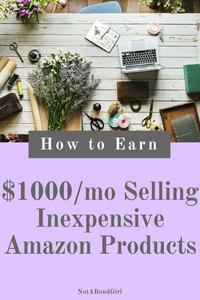 How to Make $1000/Mo Selling Inexpensive Amazon Products; make money selling inexpensive amazon products, amazon affiliate program, make money as amazon associate