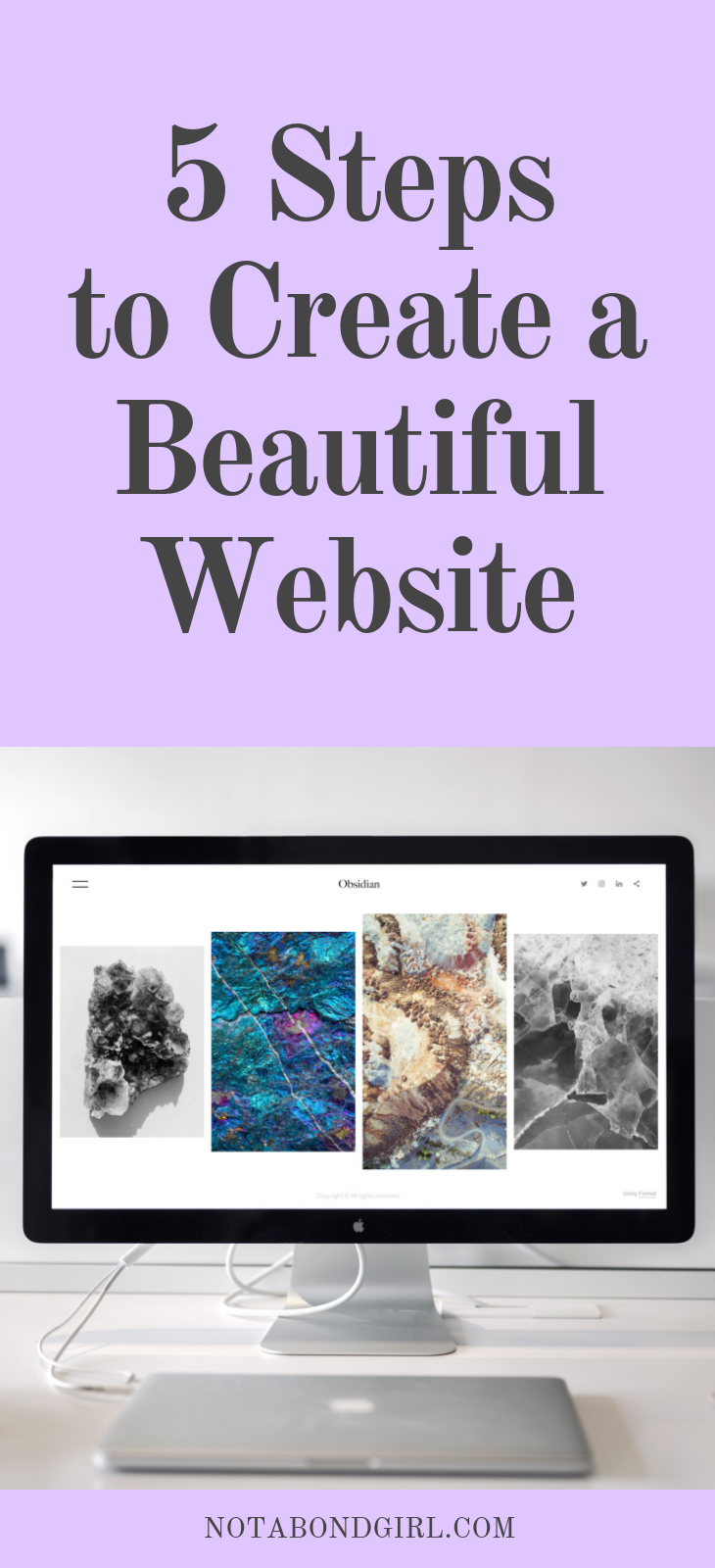 5 Steps to Create a Beautiful Website; create wix website, set up website wix, set up blog, create blog on wix; blogging tips #website #webdesign #blogging #girlboss #entrepreneur #entrepreneurship #business #blogger #solopreneur #personalfinance #millennial #worklife #career