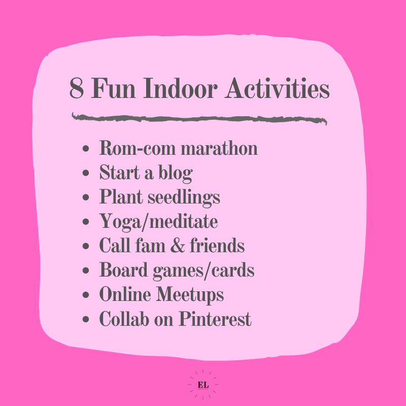 Essentials Listed: 8 Fun Indoor Activities