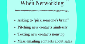 4 Things to Stop Doing When Networking: Essentials Listed