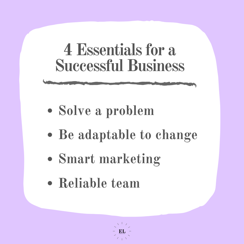 4 Essentials for a Successful Business: Essentials Listed