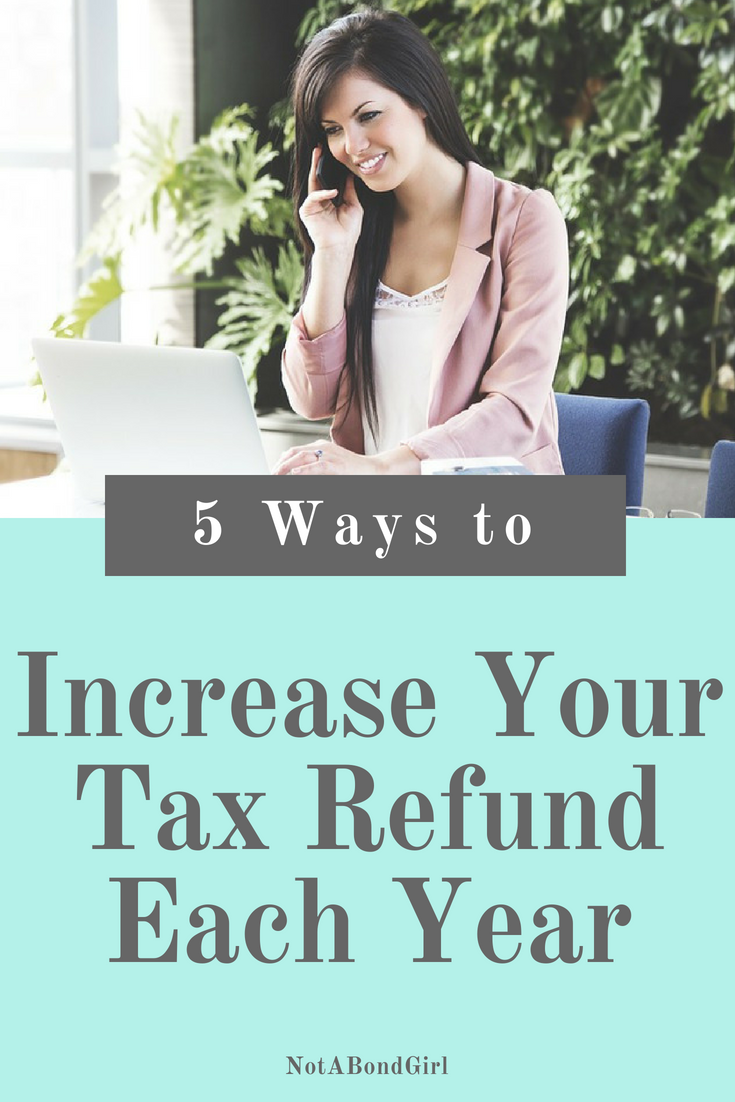 5 Simple Ways I Increased My Tax Refund; increase tax refund, lower taxable income, save tax money, small business tax tips