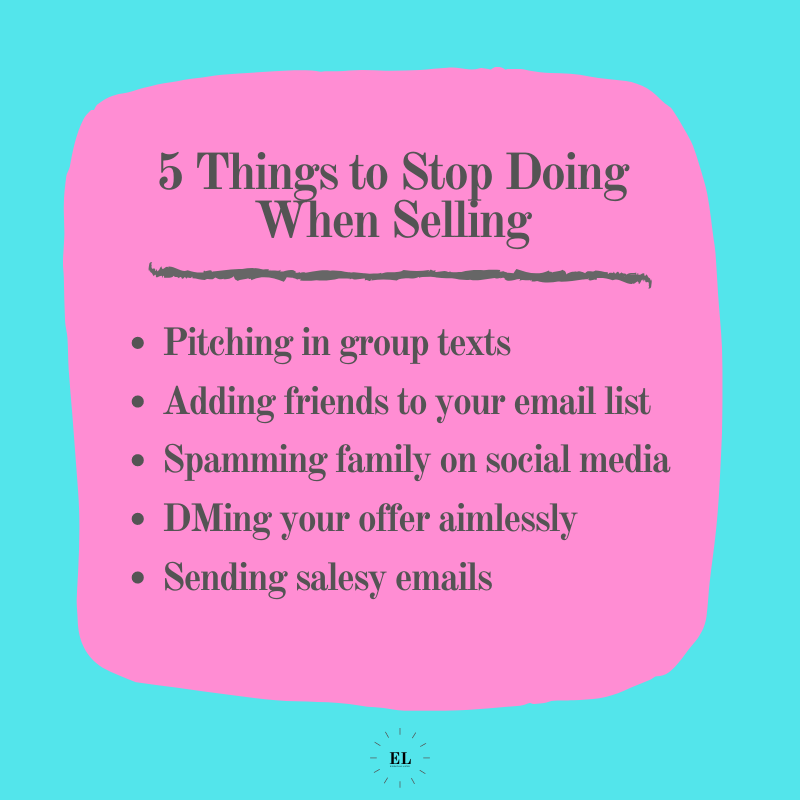 5 Things to Stop Doing When Selling: Essentials Listed