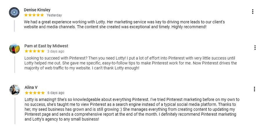 Pinfinite Marketing's Google Reviews | Pinterest Marketing Ads Agency
