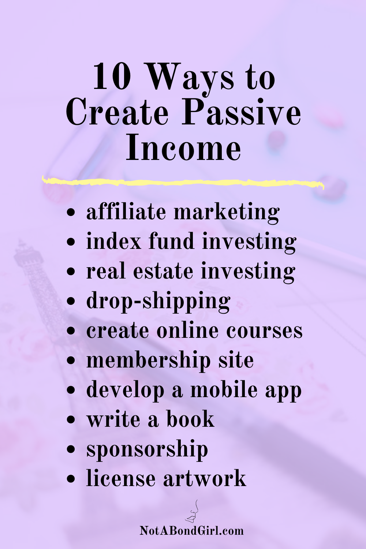 A Corporate Dropout's Guide to Passive Income