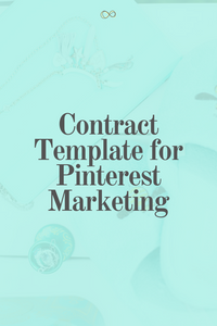 Contract Template: Pinterest Marketing Service Agreement