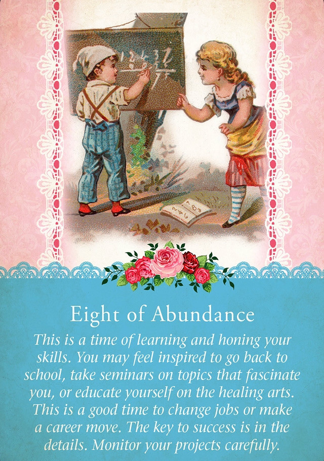 Eight of Abundance, Guardian Angel Tarot Cards
