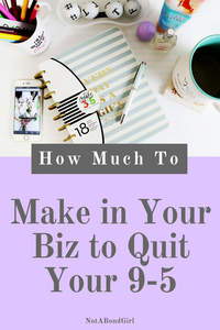 How Much Do You Need to Make in Your Biz to Quit Your 9-5? how much need to make in business to quit job, calculate business breakeven, business profit, business expense