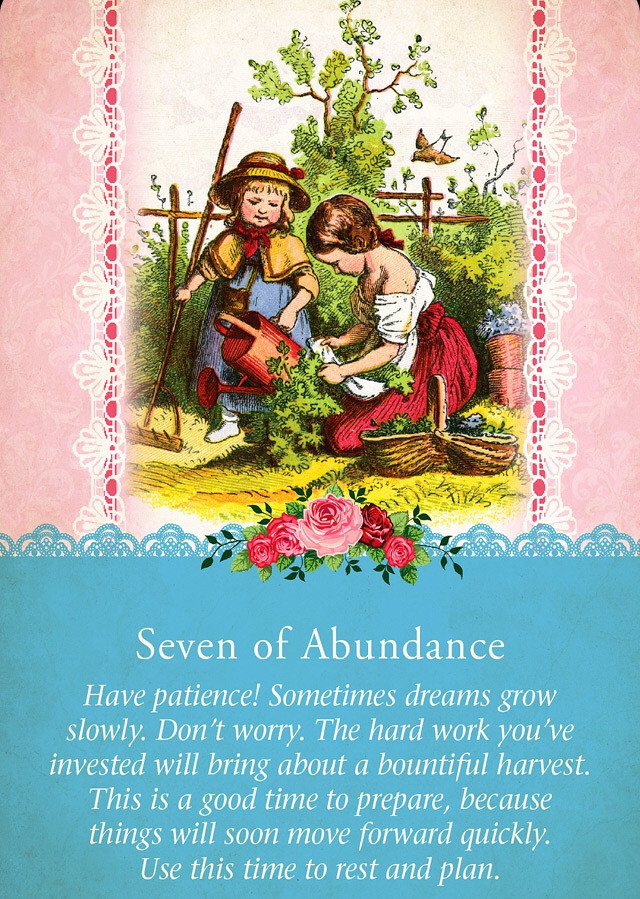 Seven of Abundance, Guardian Angel Tarot Cards
