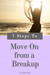 7 Steps to Getting Over a Breakup; getting over breakup, move on from heartbreak, get over break up, heal from breakup