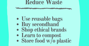 5 Easy Ways to  Reduce Waste: Essentials Listed
