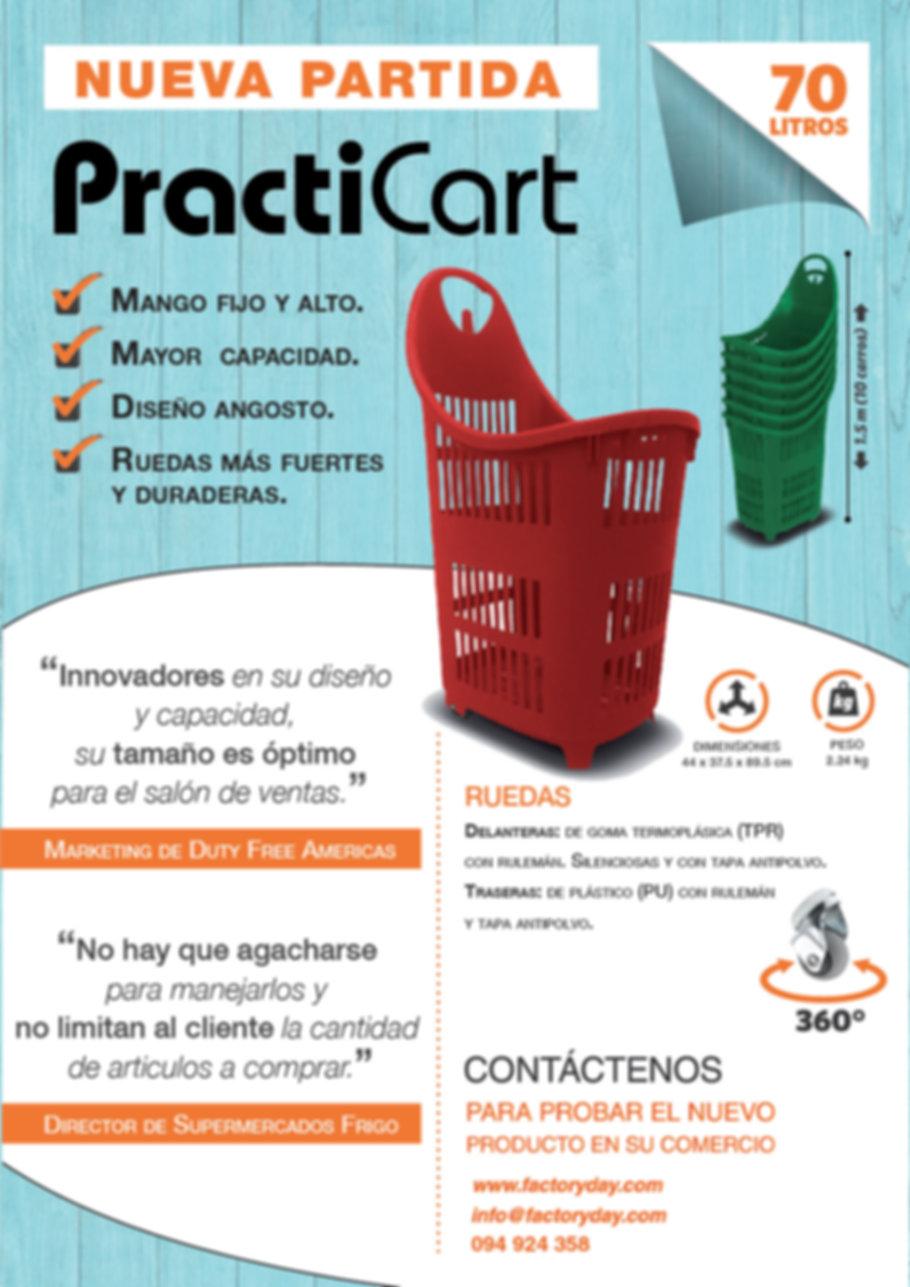 Practicart 70L, canasto supermercad, carrito supermercad,carro supermercado
