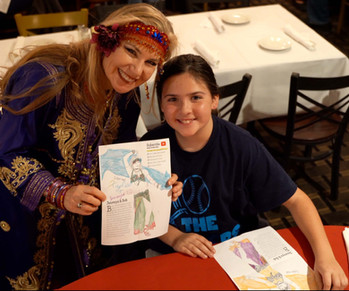 Belly Dancer Jensuya with Alfredo's Restaurant Patron