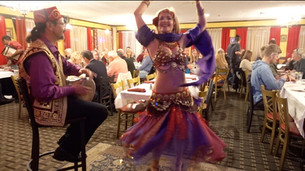 Jensuya and Bob Performing Live Belly Dance Show