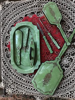 Lovely Green Dresser Set