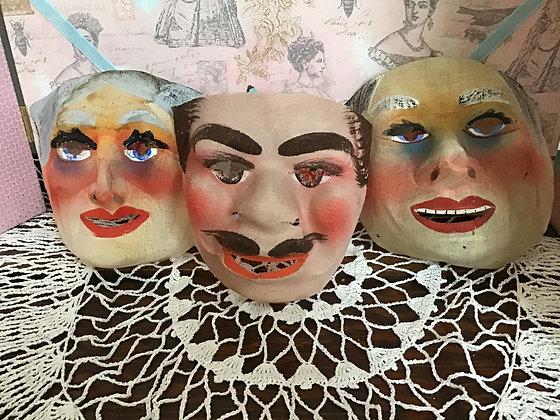 Vintage fabric masks