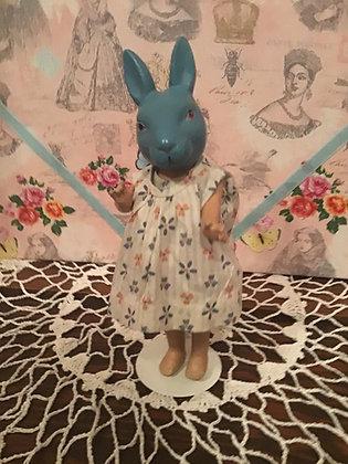 """Rare 9"""" Composition Blue Rabbit"""