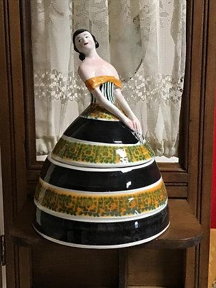 Dresser Jar in shape of a woman