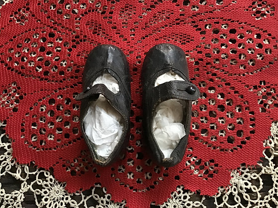 Antique Doll/Child's Leather Shoes