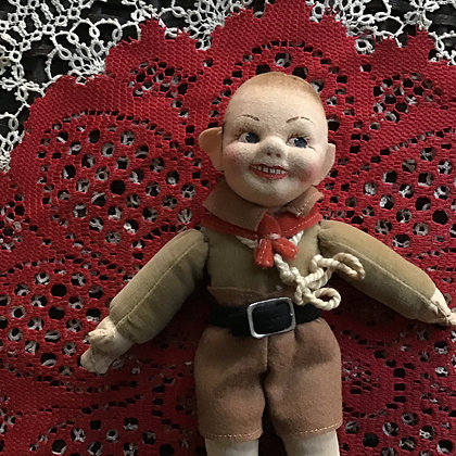 Boy Scout doll by Nora Wellings